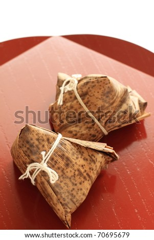 Chinese Dumpling, Zongzi - stock photo