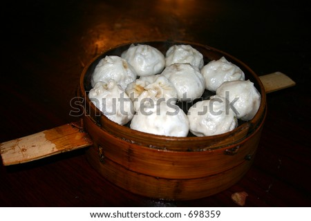chinese dumplings - stock photo
