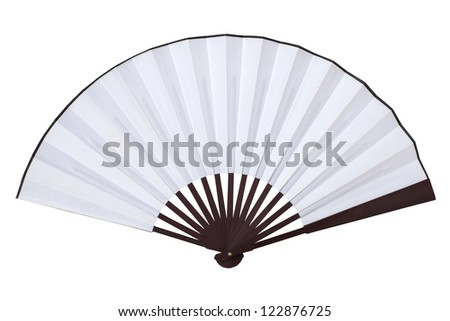 Chinese Fan Outline Chinese Fan Stock Photo