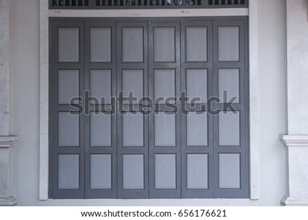 chinese Folding door gray color