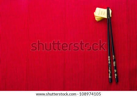chinese food background with gold bars. - stock photo