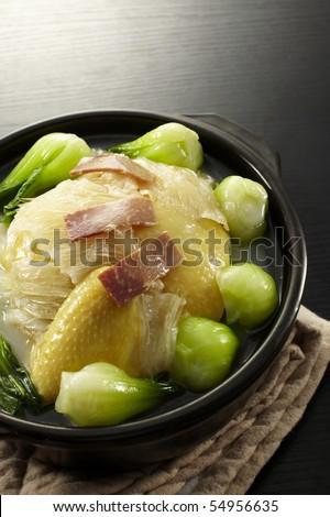chinese food chicken - stock photo