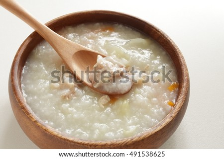 Chinese food, chicken congee