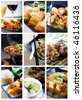 Chinese food collage - stock photo