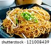 Chinese food, fried noodle - stock photo