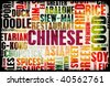 Chinese Food Menu Art Background in Grunge - stock photo