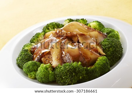 Chinese food,sea cucumber