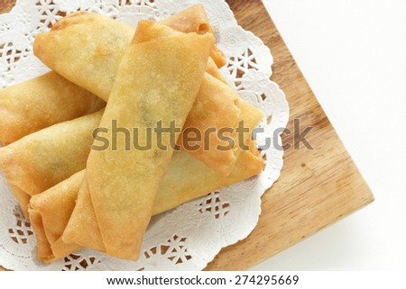 Chinese food, spring roll for Yum Cha food image - stock photo