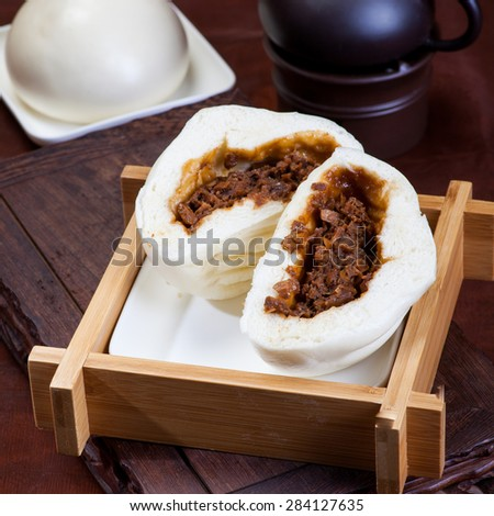 Chinese food, steamed buns - stock photo