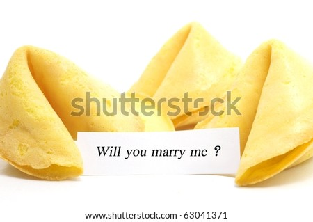 chinese fortune cookie with label isolated on white background