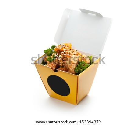 Chinese Fried Chicken Fillet with Sesame - stock photo