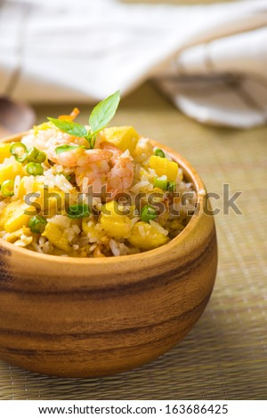 chinese fried rice , or nasi goreng popular cusine in asia - stock photo