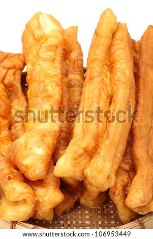Chinese Fritters on white background