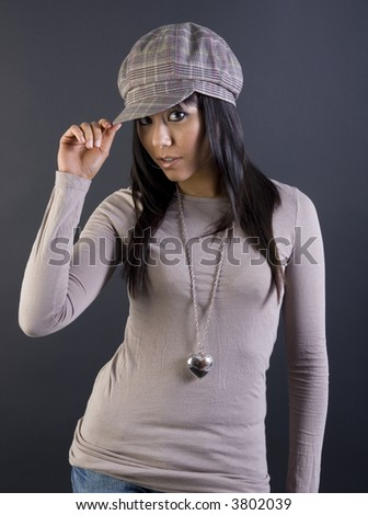 Chinese girl in hat