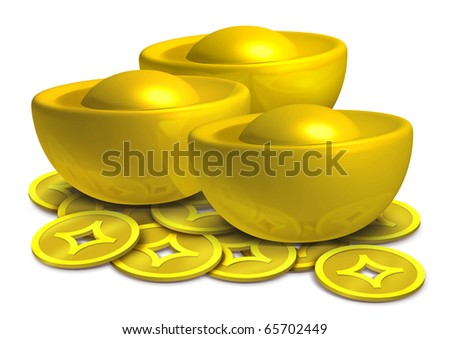 Chinese gold - stock photo