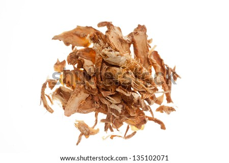 Chinese herbal medicine, photo on a white background - stock photo