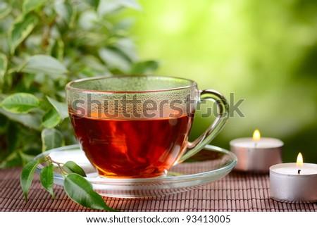chinese herbal tea - stock photo