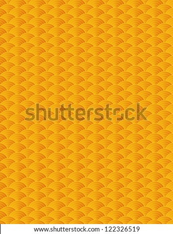 Chinese Japanese Asian Gold Fish Scale Pattern Background Illustration Raster Vector - stock photo