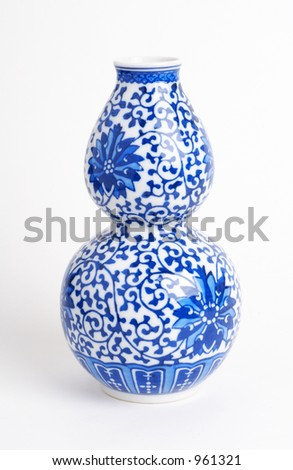chinese japanese asian vase ceramic - stock photo