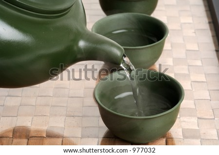 chinese japanese tea ceremony - stock photo