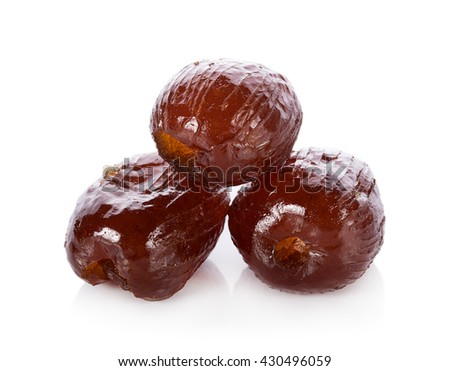 chinese jujubes isolated on white background