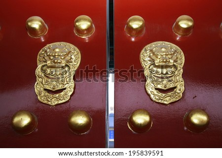 Chinese lion shaped door knobs