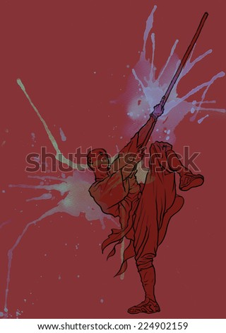 Chinese martial arts-Kung fu - stock photo
