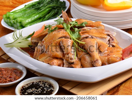 Chinese meal-chicken traditional chinese cuisine specialty dish  - stock photo