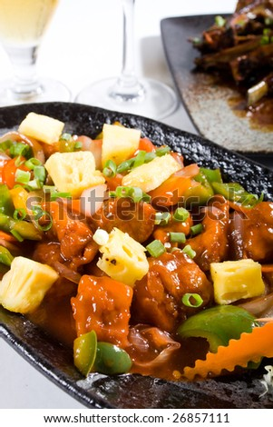 chinese meal - sweet and sour pork