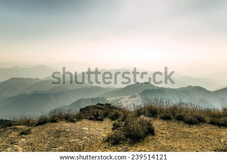 Chinese mountain scenery - stock photo