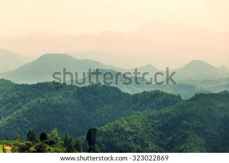Chinese mountains - stock photo