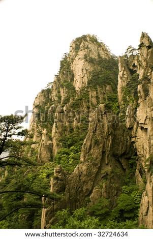 chinese mountains - stock photo