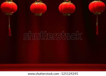 Chinese New Year Background. - stock photo