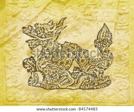 Chinese New Year decoration, Dragon and texture background