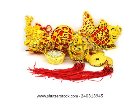 Chinese new year decorations. - stock photo