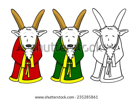 Chinese New Year Goat in Robe - stock photo