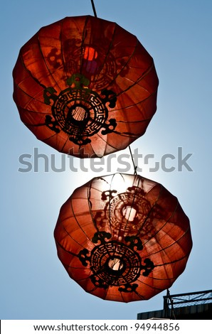 chinese new year lantern lamp - stock photo