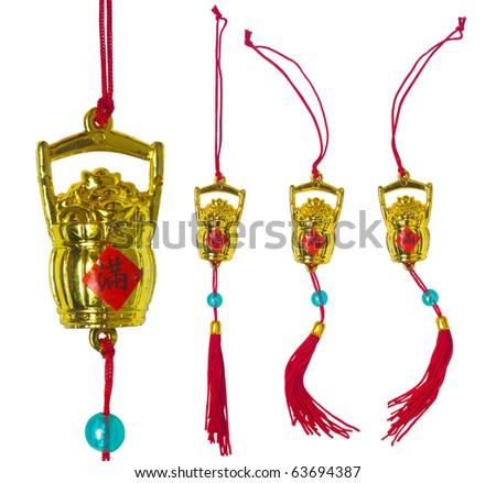 Chinese New Year Ornament - Bucket of Ingot - stock photo