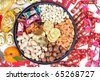 Chinese new year ornaments and candy box. - stock photo