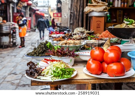 Chinese new year's food - stock photo