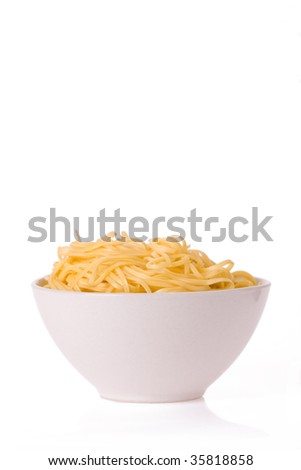 chinese noodles in white bowl
