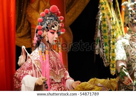 chinese opera dummy, female - stock photo