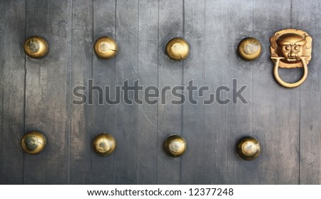 Chinese Palace's with door knocker - stock photo