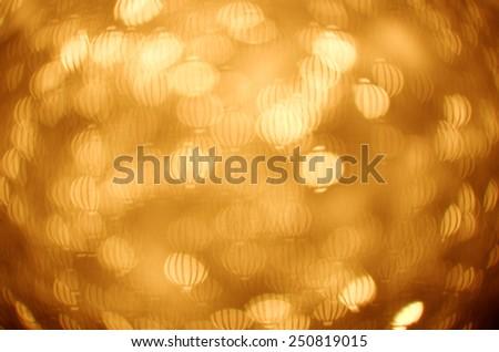 chinese paper lantern bokeh background - stock photo