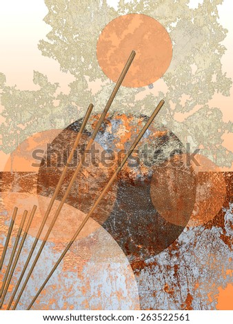 Chinese pastel colors abstract  - stock photo
