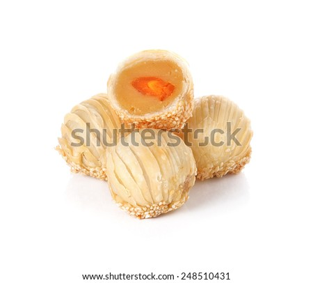 Chinese Pastry dessert festival China isolated on white background - stock photo