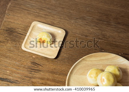 Chinese Pastry-Mung Bean with Egg Yolk - stock photo