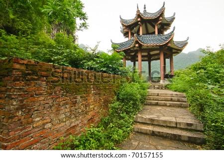 Chinese pavilion - stock photo