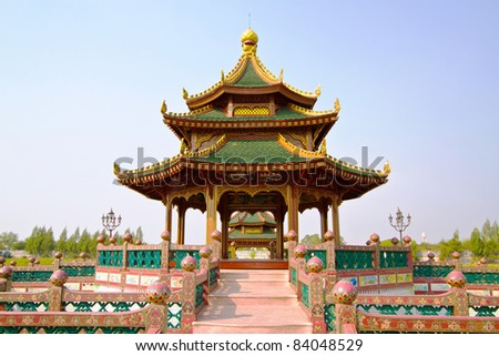 chinese pavilion - stock photo