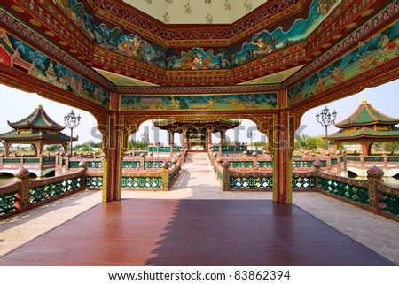 chinese pavillion - stock photo